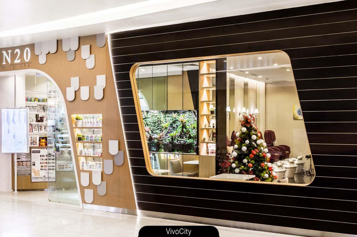 N20 Nail Spa salon - VivoCity. Enjoy the ambience and privacy.